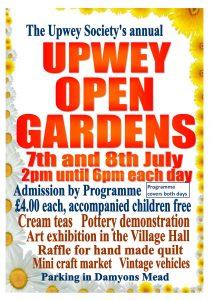 Open Gardens 2018 poster